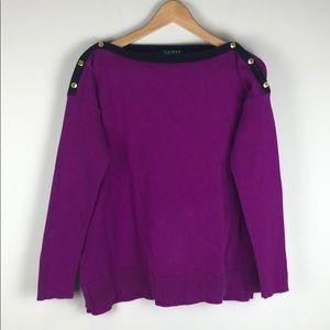 Lauren Ralph Lauren Purple Sweater Size Large